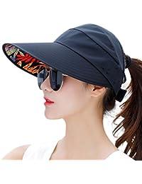 01df267d2374c Sun Hats for Women Wide Brim Sun Hat Packable UV Protection Visor Floppy  Womens Beach Cap