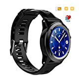 Baoduohui Smart bracelet 3G network WIFI function - navigation function fitness tracker heart rate detectorIP68 waterproof smartphone ( Color : Black )