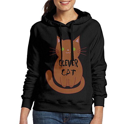 Clever Costumes Couples Cute (LAIRHONE Women's Hoodie Clever Cat Size L)