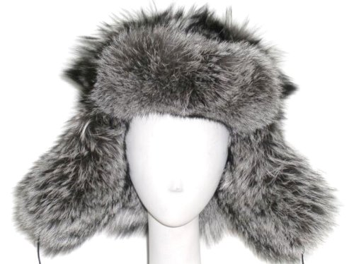 FursNewYork Natural Raccoon Trooper Hat-Unisex (Finnish Raccoon)