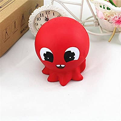 Bluelans Slow Rising Squishies Squeeze Toys,Cute Cartoon Octopus Slow Rising Toy Soft Simulated Squeeze Adults Kids Gift Xmas Gifts Christmas Party Favor Party Bag Stocking Fillers: Toys & Games