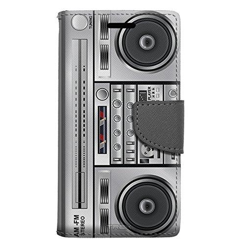 Samsung Galaxy J7 Wallet Case - Retro Boom Box Case