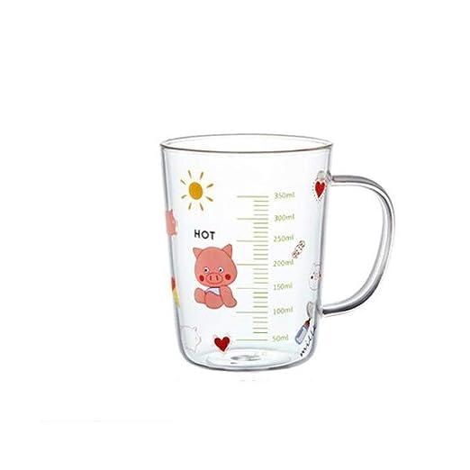 Compra XIONGHAIZI Vaso con Escala de Vidrio, Vaso de Leche Vaso ...