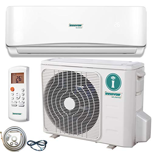 Innovair Air Conditioner Inverter Ductless Wall Mount Mini Split System Heat Pump Full Set with Kit 17-19 SEER (12,000…