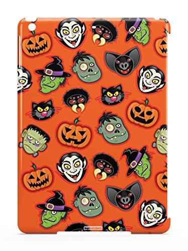 Inspired Cases 3D Textured The Faces of Halloween Vampire Pumpkin Frankenstein Case for iPad -
