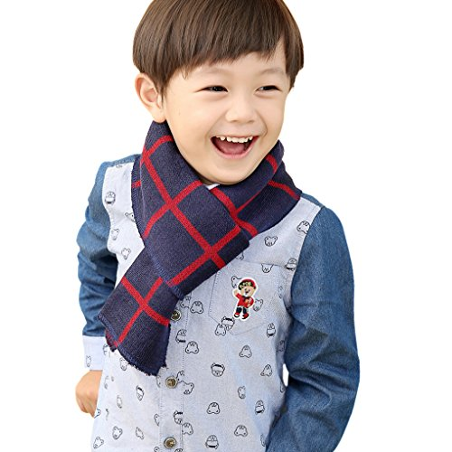 hot sell Kids Girls Boys Plaid Long Knitted Scarves Neck Warmer Winter Warm Soft Cotton Outdoor Cycling Walking Ski Play Scarf Shawl, Great Christmas New Year Gift supplies