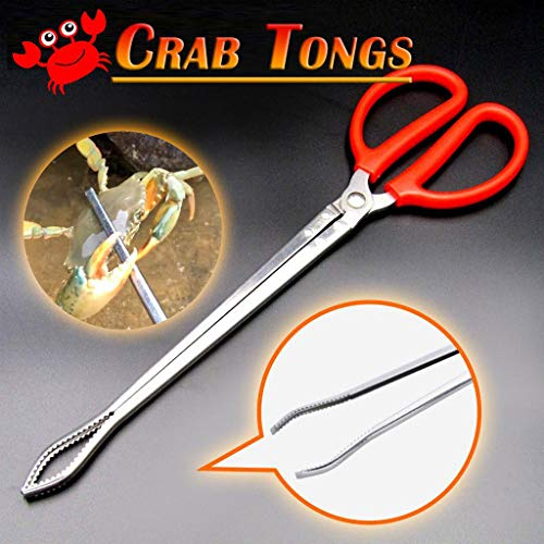 Crab Tongs - Clip Sea Crab Artifact Crab Tongs Reinforced Multi-function Clip Anti-slip Tool,for Squid, Octopus, Eels - by NszzJixo9