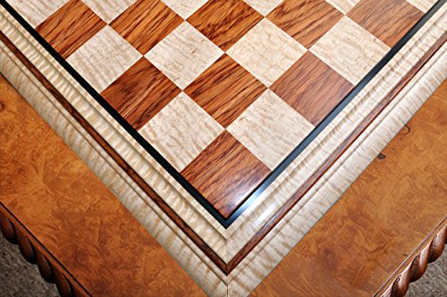 The House of Staunton Signature Contemporary II Chess Board - Curly Maple/Pomelle Bubinga - 2.5