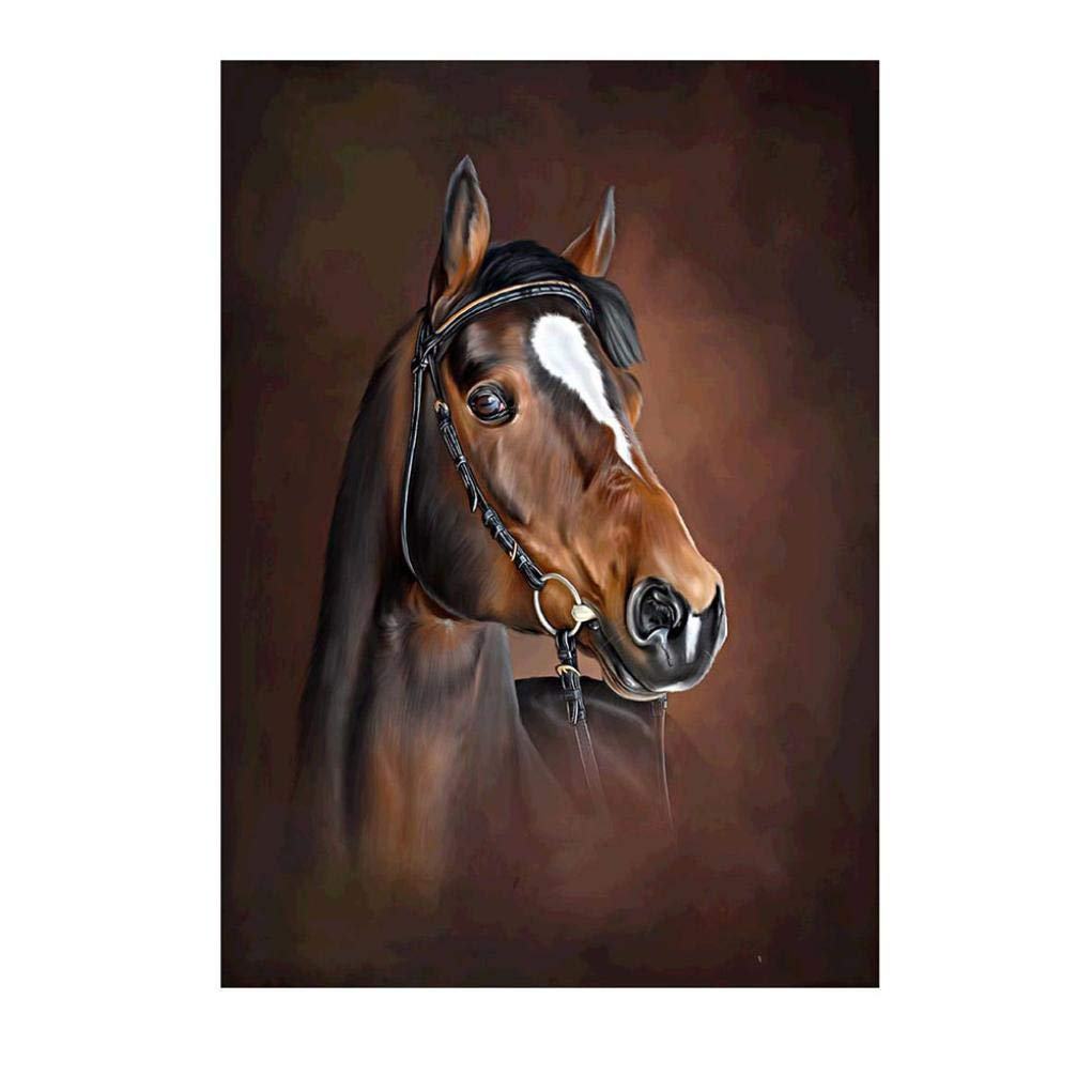 Oldeagle Diamond Painting, 5D DIY Horse Part Drill Diamond Painting Kits Drill Diamond Embroidery Rhinestone Cross Craft Stitch Wall Decor For Living Room, Bedroom