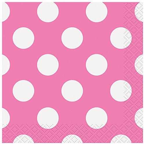 Pink Polka Beverage Napkins 40ct