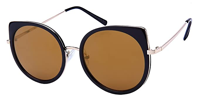 f6020d5594d Edge I-Wear Cute Cat Eye Sunnies with Flat Color Mirror Lens 32211-FLREV