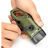 Emergency Flashlight, MECO LED Flashlight Emergency Hand Cranking & Solar Powered Rechargeable Flashlight Carabiner Dynamo w/ Quick Snap Clip Backpack Flashlight Torch Weather Ready for Camping Outdoor Climbing Hiking