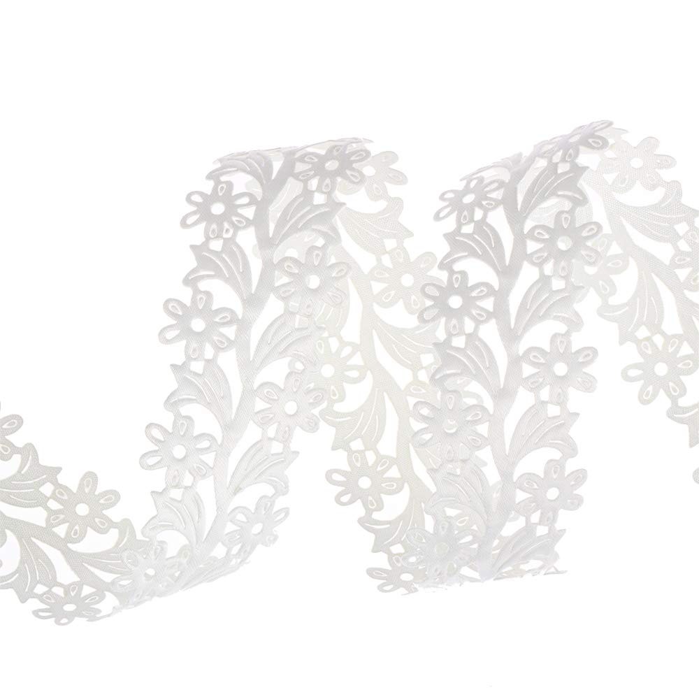 Beige okdeals 2 Yard DIY Wedding Ribbon Embellishment Home Decoration Trim Flower Sewing Lace