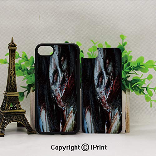 (Cell Phone Case for iPhone7/8,Scary-Dead-Woman-with-Bloody-Axe-Evil-Fantasy-Gothic-Mystery-Halloween-Picture,for Running,Walking,Hiking)