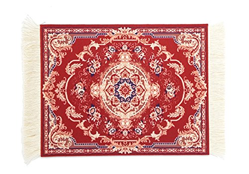 Flannel Daisies - Magic Carpet Mouse Pad, Persian Rug Mousepad Durable Non-Slip Rubber Comfortable Customized Office Accessory