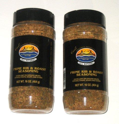 Carl's Gourmet All Natural Prime Rib & Roast Seasoning - 16 Oz (2-Pack)