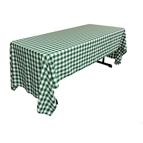 LA Linen Premium Poly Checkered Hunter Green and White Table