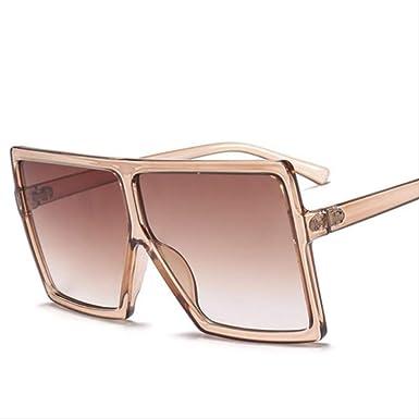 shengbuzailai Gafas de sol con montura grande para mujer ...