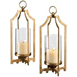 Uttermost 19957 Lucy Candleholders (Set of 2), Gold