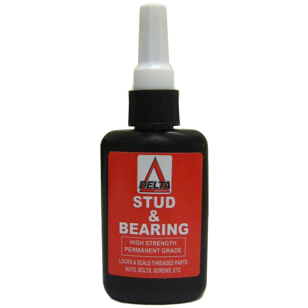 All Trade Direct 1 X Stud And Bearing Adhesive 50Ml Red Threadlock Nutlock Studlock Lockseal N &