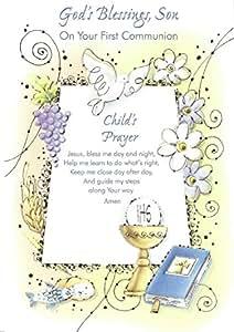 Amazon.com: Bendiciones de Dios, Hijo en su primera Comunión ...
