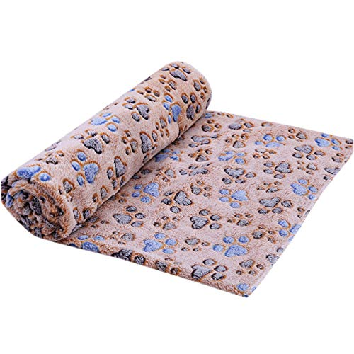 Dog Claw Towel Dog Cat Cleaning Towel Pet Dirty Paw Carpet High Suction Towel Good Anti-Skid Function Dog Drying Towel Microfiber Absorbent Pet Dirty Paws Cleaning Bath Towel Mat (Coffee, 60x40cm)