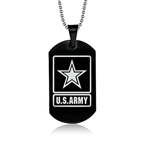 Amazon.com: LF para hombre acero inoxidable US Army Star ...