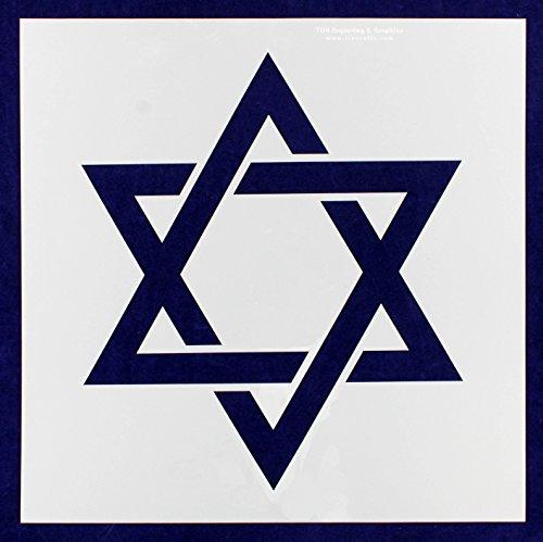 Jewish Star Of David Engraving - Star of David Stencil -16