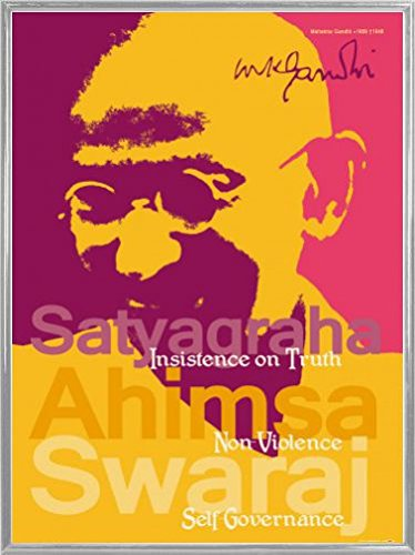 Mahatma Gandhi Poster Art Print and Frame Plastic - Satyagraha, Insistence On Truth