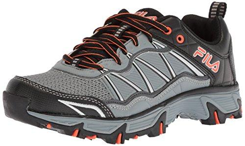 Fila Men's at Peake 19 Trail Running Shoe, Monument/Dark Shadow/red Orange, 11 Medium US