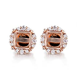 Rose Gold Diamond Semi Mount Earrings