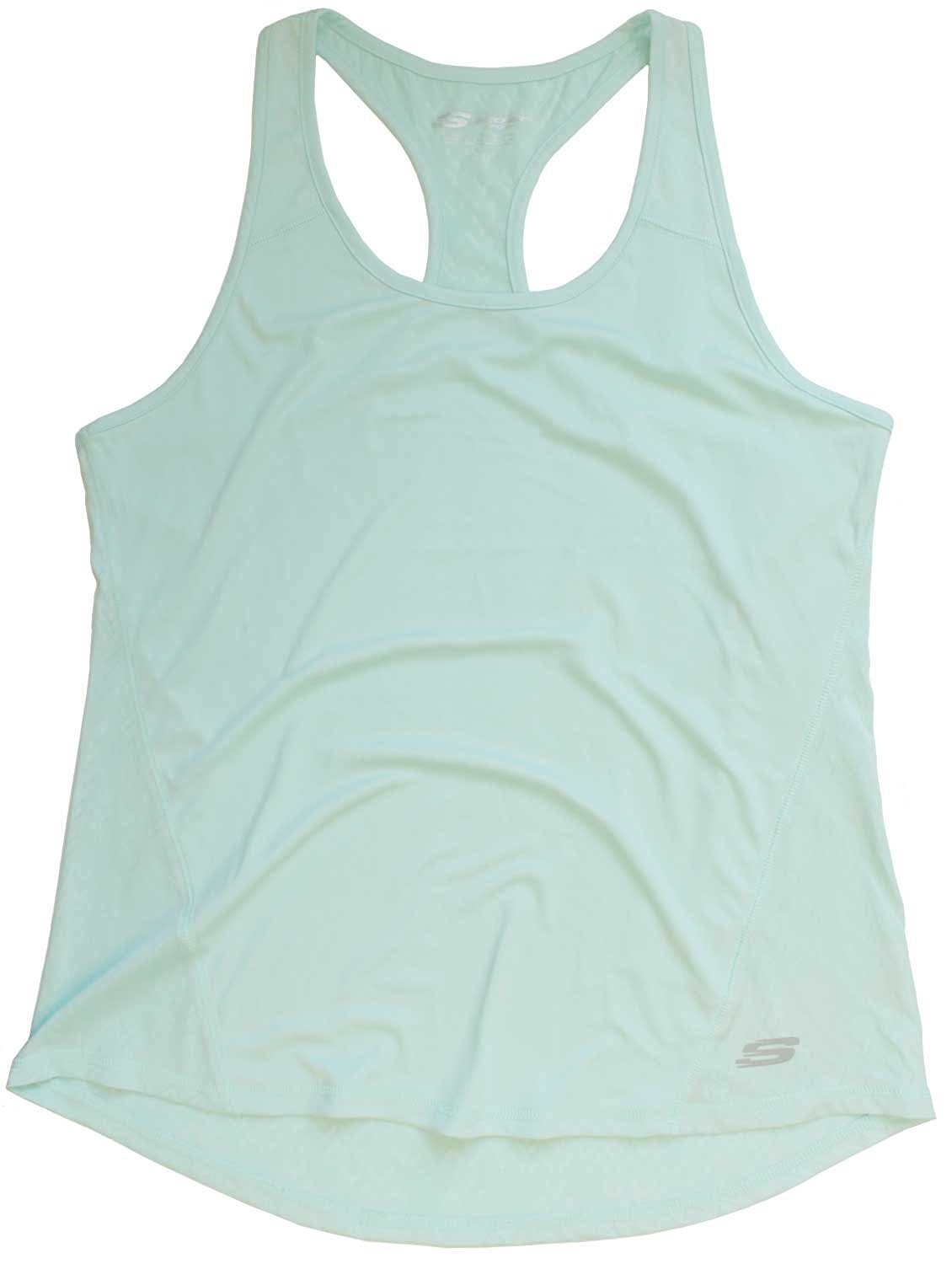 Skechers Sport Active Women's Racer-back Tank Tee Atomic Beach Glass X-Large