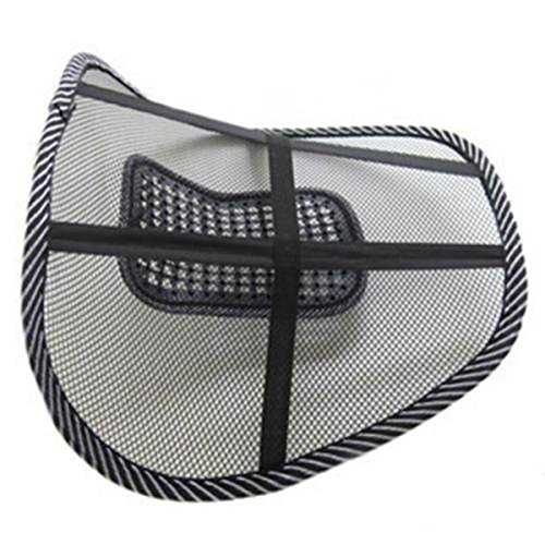 Sedeta/® Support de si/ège dauto pour le dos Si/ège de si/ège de bureau Home Cool Mesh de joint de ventilation Masse inf/érieure Back Lumbar Ventilabte Cushion Support Pad Posture Corrector Soft Grille re