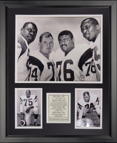 Legends Never Die Los Angeles Rams - Fearsome Foursome &W Framed Photo Collage, 16