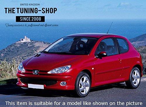 Para Peugeot 206/206/CC 1998/ /2012/Gear polainas Piel de color rojo negro 206/logotipo bordado