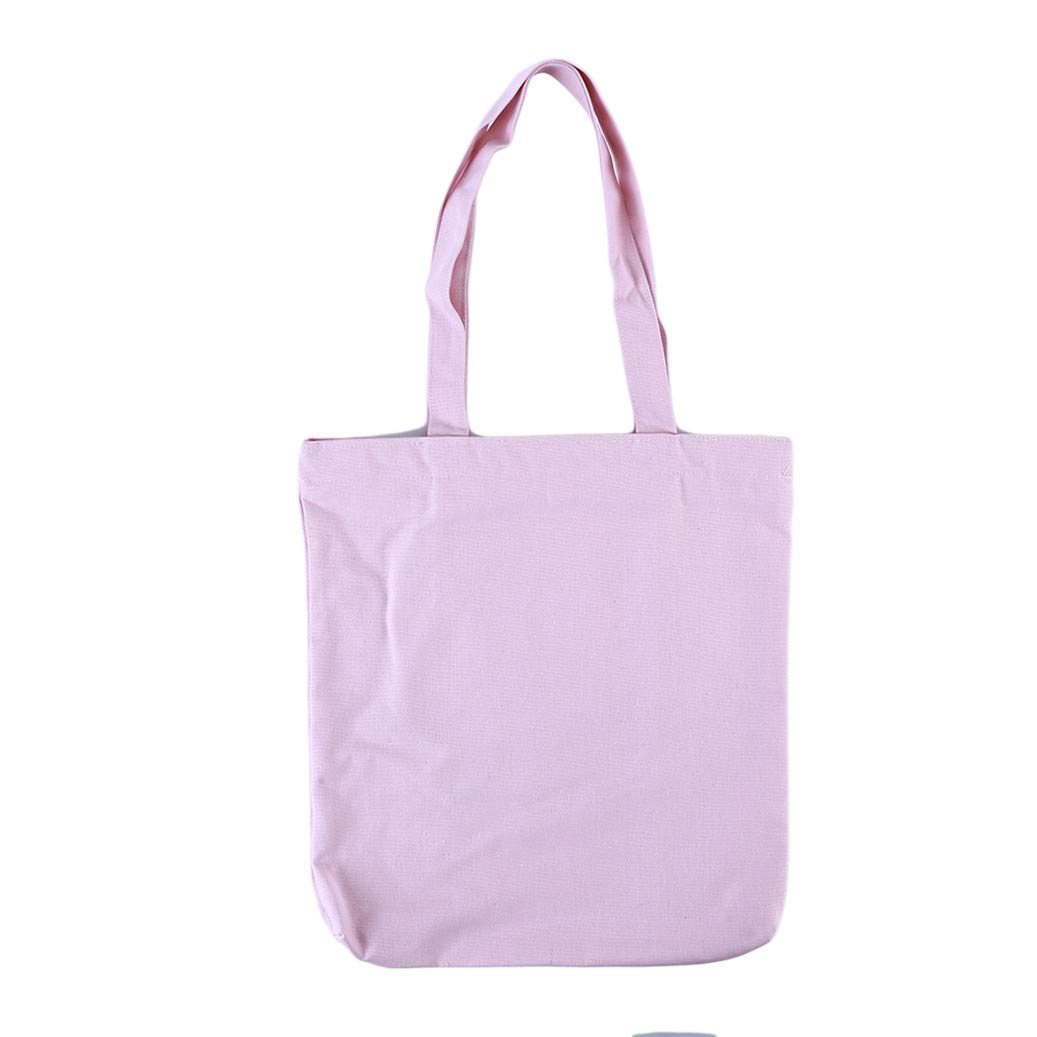GOMYIE Small Fresh Art Literary Full Printed Cotton Canvas Tote Shopping Bag