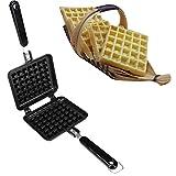 AODEW Waffle Iron Waffle Baking Mold Old Fashioned Cast Iron Stove Top Non-Stick DIY Waffle Cake Mould Tray Baking Tools