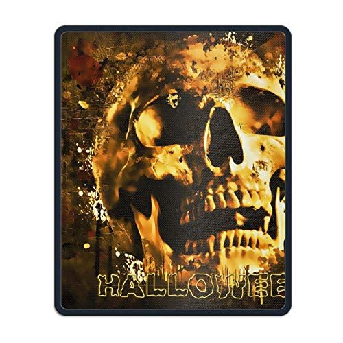 Halloween Skull Mouse Map Pad with Nonslip Base 11.8 x 9.8 inch, Waterproof Mat for Desktop, Laptop, Keyboard, Enjoy Precise & Smooth Operating Experience -