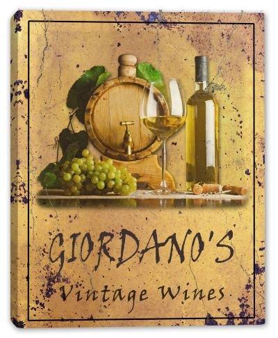 GIORDANO'S Family Name Vintage Wines Canvas Print 24