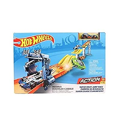 Hot Wheels Super Start Jump Race Track Accessory: Toys & Games