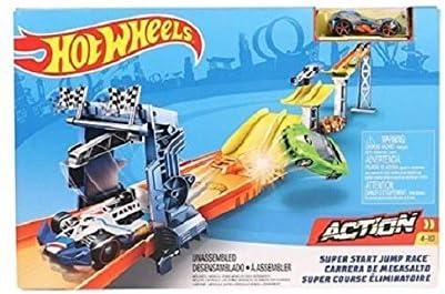 Amazon.com: Hot Wheels Super Start Jump Race Track Accessory: Toys & Games