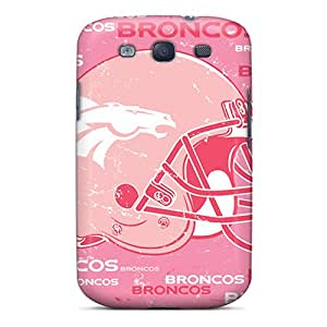 Shock Absorbent Cell-phone Hard Covers For Samsung Galaxy S3 With Support Your Personal Customized Colorful Denver Broncos Pattern JonathanMaedel