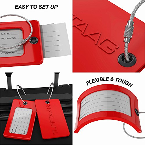 Luggage Tags TUFFTAAG, Business Card Holder, Suitcase Labels, Travel Accessories by ProudGuy (Image #3)