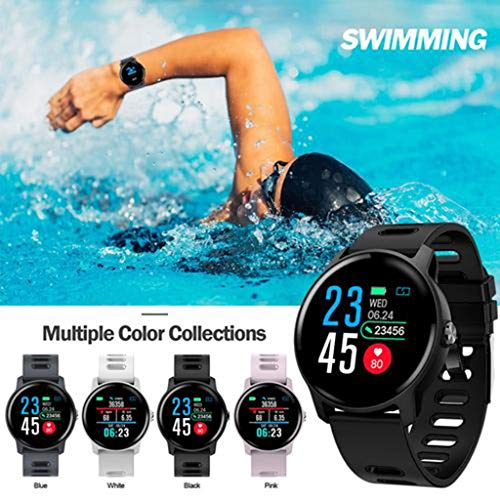 HHJEKLL Reloj Inteligente Bluetooth Smart Watch Heart Rate ...