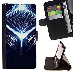 Momo Phone Case / Flip Funda de Cuero Case Cover - Resumen Cubo;;;;;;;; - Samsung Galaxy Core Prime