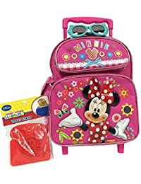 """Minnie Mouse 12"""" Heart Shaped Rolling Backpack Set"""