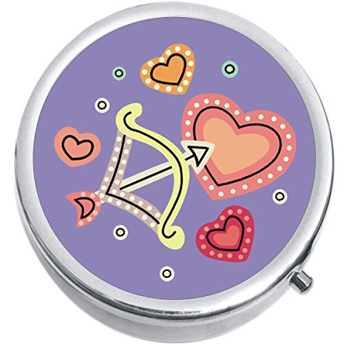 Cupids Arrow and Hearts Pill Box Medicine Pill Box