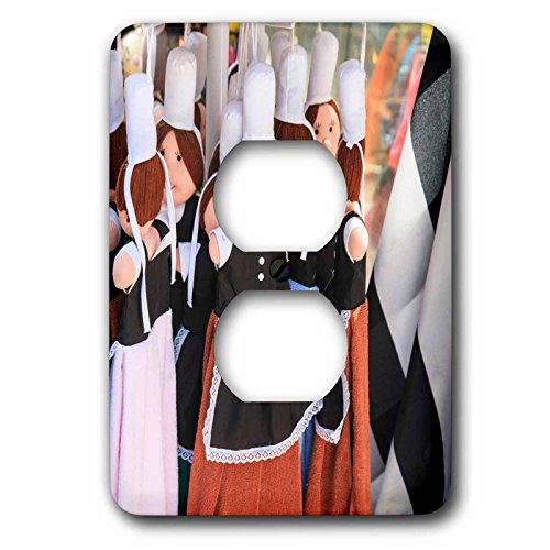 Danita Delimont - France - Dolls are dressed in the traditional costume of the women of Brittany - Light Switch Covers - 2 plug outlet cover (lsp_227311_6) - France Costume Traditional