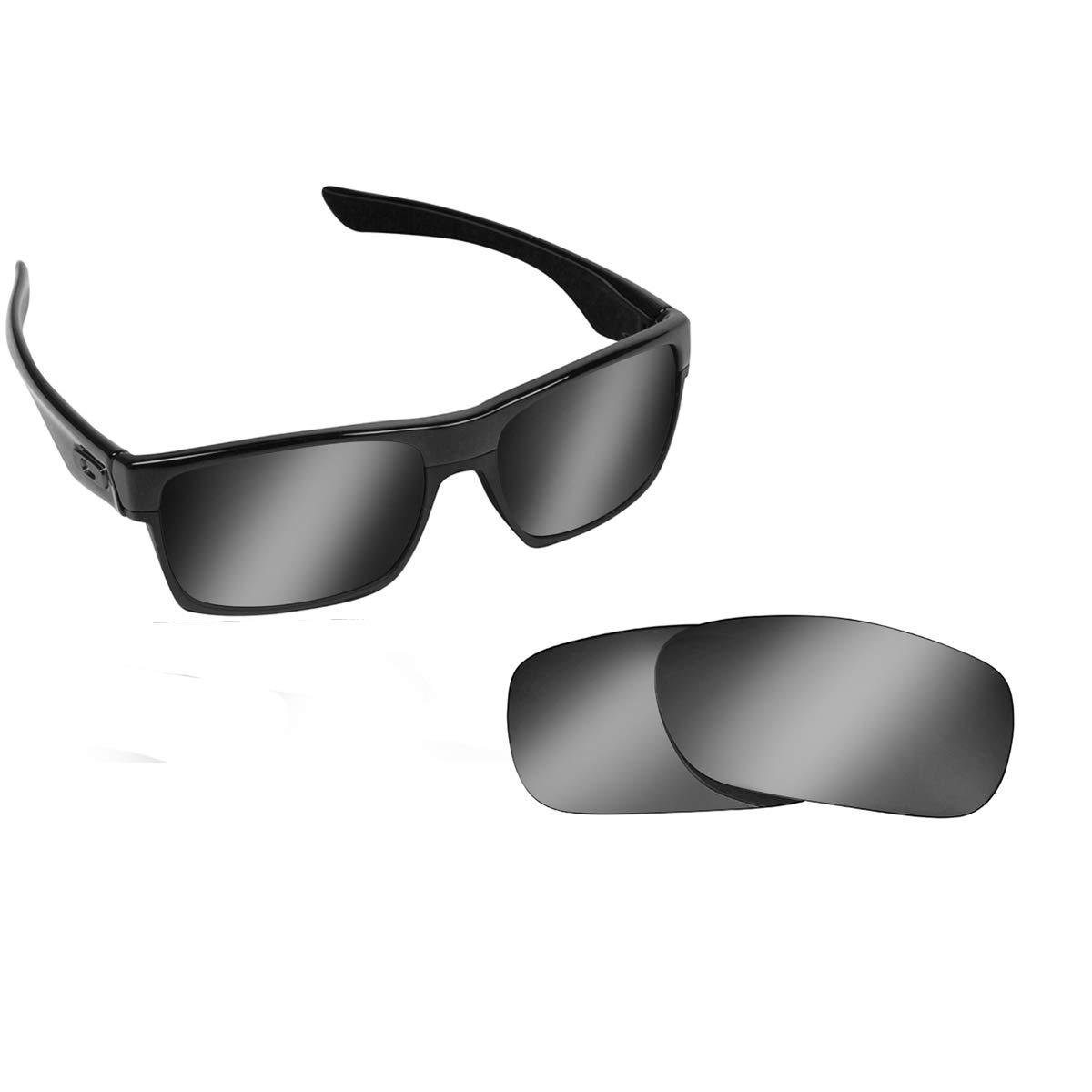 80538e24b7 TWOFACE Replacement Lenses Polarized Black Iridium by SEEK fits OAKLEY at  Amazon Men s Clothing store