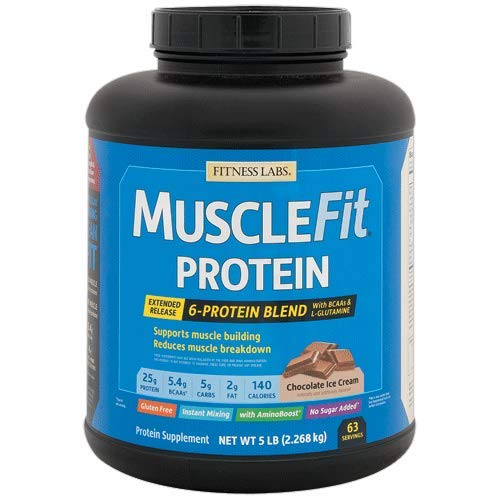 Fitness Labs MuscleFit Protein Blend (5 Pound, Chocolate Ice Cream)